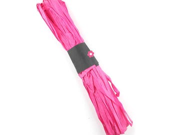 fuchsia 5mm (100a) paper raffia cord x50m