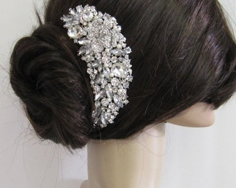 Wedding pearl hari comb, bridal hair comb, large crystal hair comb, bridal hair accessories, wedding hair comb pearl ,hair comb bridal