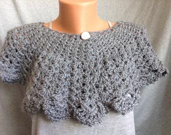 Short Crochet Shoulder Wrap