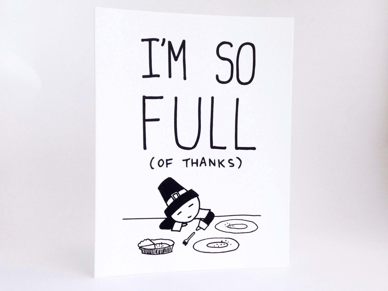 Funny thanksgiving card humorous im thankful card zoom m4hsunfo
