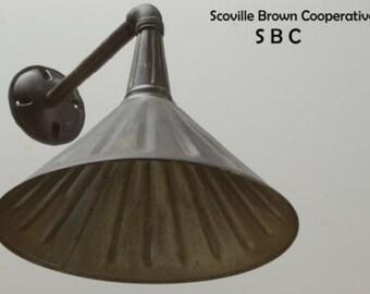 Industrial Lighting Interior or Exterior Light Fixture Metal Wall Sconce Lamp