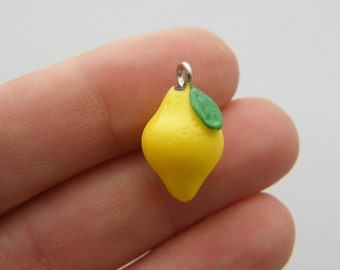 BULK 20 Lemon charms resin FD247