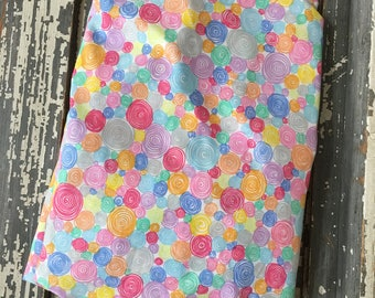 Spring Colors and Swirls ~ Crib Sheet~ Nursery Bedding ~Fitted Crib Sheet~ Cotton Crib Sheet ~Little Girl Crib Sheet