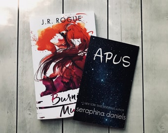 Burning Muses Signed Paperback w/Apus (both 1st ed cover)