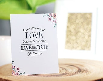 Wedding Save The Date, Printable PDF, Getting Married, Love!