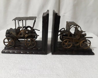 Vintage Cars Bookends