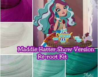 Ever After High Maddie Hatter Custom Doll Nylon Hair Re-root Rerooting Kit Pack for Customizing your DIY Doll INTL SHIP