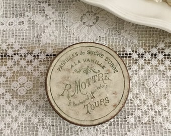 Antique French Candy Tin - R. Mottre