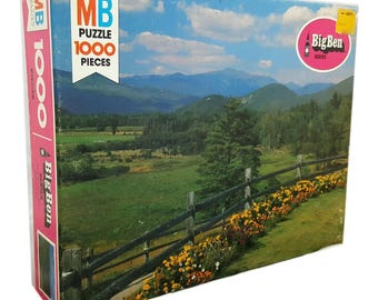 "Vintage 1978 Milton Bradley Big Ben Series ""Distant Vista"" 1000 Piece Puzzle"
