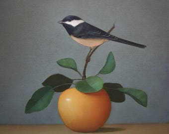 Bird and Apple Still Life~ Bird Art Print