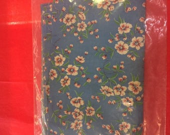 Large piece of vintage cloth measures 51 in x 68 in.