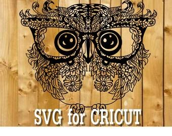 Owl mandala svg / zentangle owl svg / intricate svg file / cricut design svg / mandala animal / zentangle for cricut / mandala for cricut