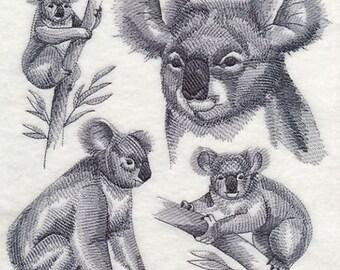 Custom Embroidered Koala Bear Sweatshirt S-3XL