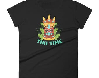 Tiki Time Polynesian Hawaiian Island Tiki Totem Women's short sleeve t-shirt