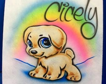 Airbrush Cute Puppy Dog