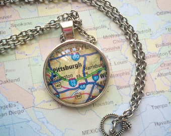 Find Your Place Cabochon Necklace