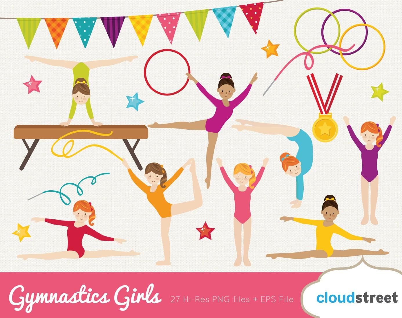buy 2 get 1 free girl gymnastics clipart gymnastics clip art rh etsy com gymnastics clip art silhouette gymnastic clip art free