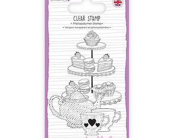 """""""Afternoon tea"""" Dovecraft clear stamp embellishment scrapbooking card making (ref.110) *."""