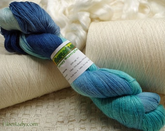 Hand painted Mousoucot Cotton/Bamboo yarn, 4 oz, Relaxing