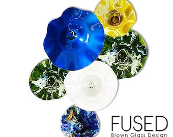 Blown Glass Bowls - Wall Art 6 piece set