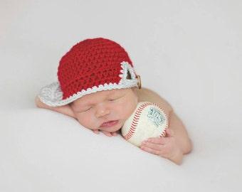 READY TO SHIP Newborn baseball hat (newborn baseball cap) (baseball Hat) (newborn photo shoot prop) (baby shower gift) (baby sport cap)