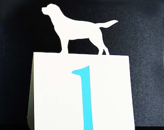 Dog Table Numbers Set of 1 to 25, Choose dog, Wedding table number, wedding table decor, Custom Dog, dog wedding