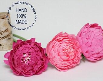 pink peonies, wedding flowers, paper flower bouquet, bridal bouquet, bridesmaids bouquet, alternative bouquet