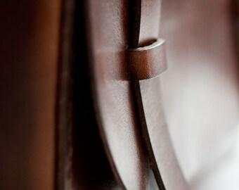 Leather Dopp Kit - Dark Brown