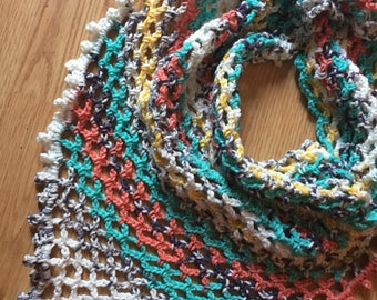 Painted Canyon Triangle Scarf // Handmade Crochet