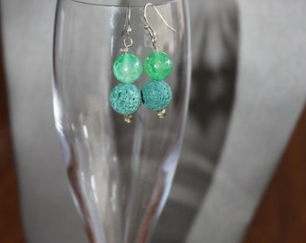 Aromatherapy Lava Stone Diffuser Earrings