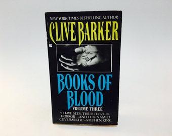 Vintage Horror Book Clive Barker - Books of Blood Vol. 3 1986 3rd Paperback Edition