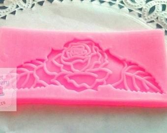 Rose plaque mold