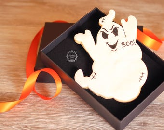 Halloween cookies - Halloween gift box - Large ghost cookie - Ghost biscuit - Trick or treat biscuits - Halloween biscuits