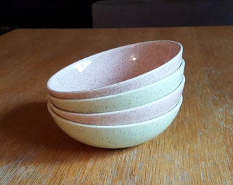 Set of 4 California Laurel Living Pottery Dessert Bowls