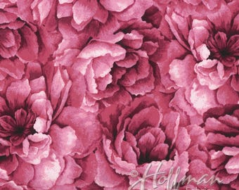 Hoffman - Belleflower - Large Packed Floral - Sweetpea - Fabric by the Yard P7576-447