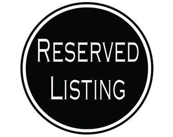 Reserved Listing for Allison Taylor  (Item #1702-023FFC)