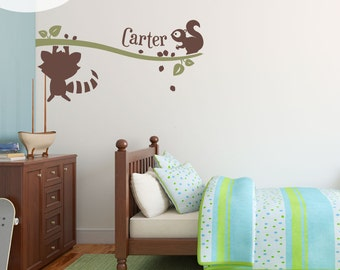 Woodland Pals & Me -- Personalized Vinyl Wall Decal