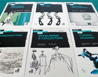 Fashion Books Basics, Fashion Design Student Resource Books, Illustrations Fashion Inspiration Sketch Book, Fashion Industry Career