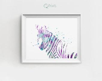 Zebra Print, Zebra Digital, Zebra Printable, Zebra Wall Decor, Zebra Illustration, Large Zebra Print, Home Decor Zebra, Gift, Watercolor