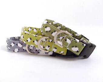 Sheep Dog Collar | Dog Collar | Green Dog Collar | Puppy Collar | Boy Dog Collar | Farm Dog Collar | Male Dog Collar | Girl Dog Collar
