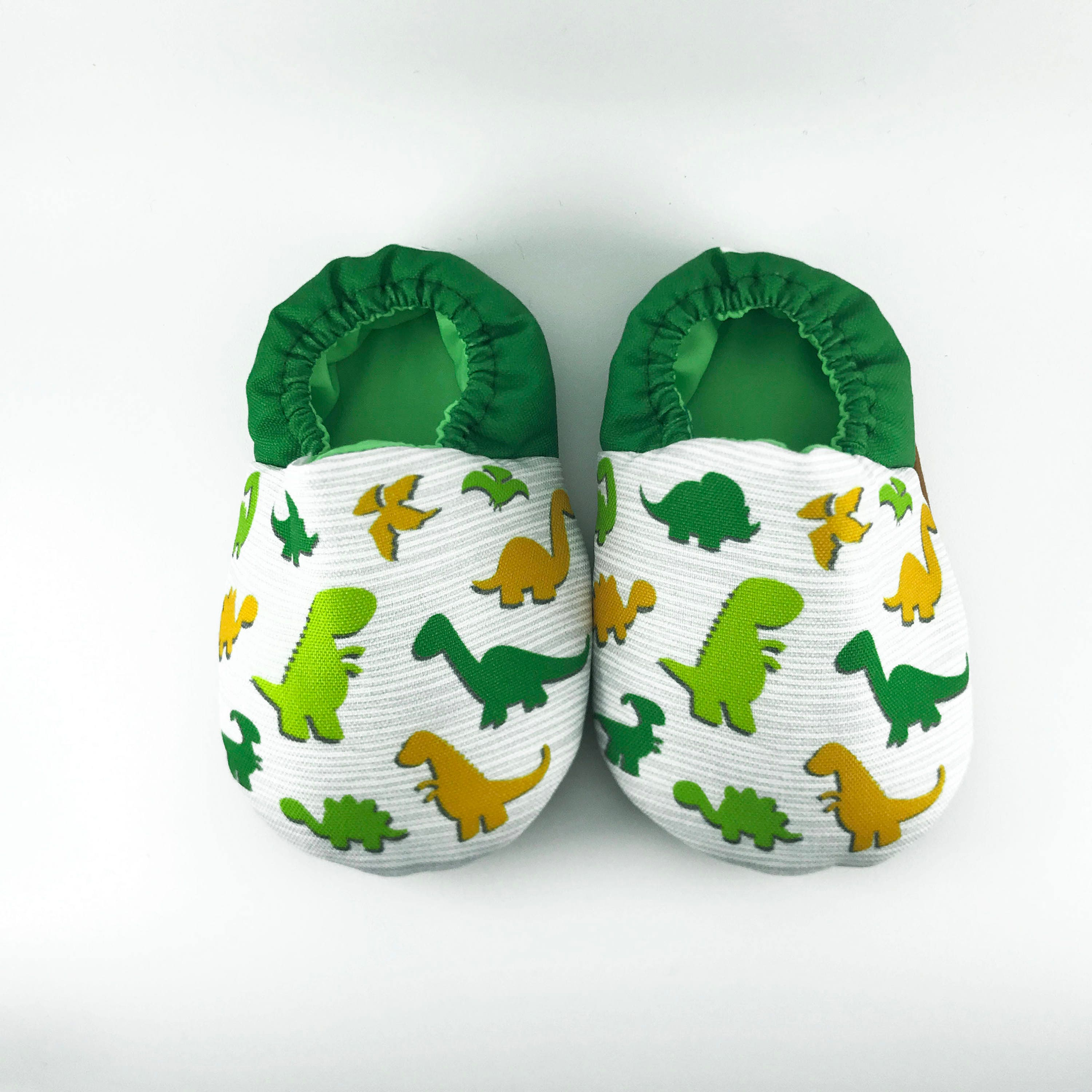 Dino soft soled baby shoes Baby crib shoes green baby shoes
