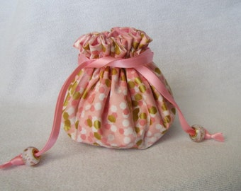 Jewelry Pouch - Medium Size - Drawstring Jewelry Bag - PINK PENELOPE