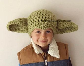 Yoda hat pattern etsy download crochet pattern 045 yoda hat star wars hat yoda inspired hat dt1010fo