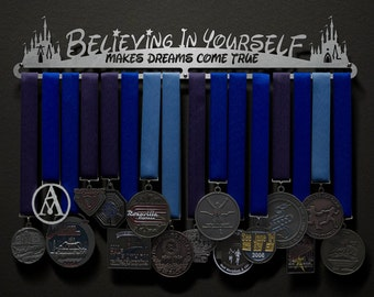 Believing In Yourself Makes Dreams Come True - Allied Medal Hanger Holder Display Rack