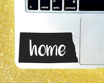 North Dakota Home State Decal - Custom Decal - Laptop Sticker - Macbook Sticker - North Dakota Decal - Car Decal - Car Sticker - Home State