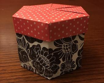 "Valentines Origami Box - 4"""