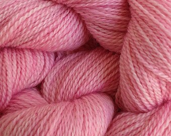 Merino Wool Yarn Lace Weight in Sand Pink Hand Painted
