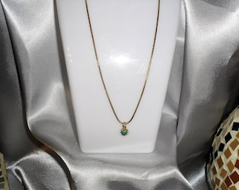 turquoise vermeil necklace