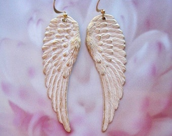 Angel Wing Earrings - Wing Jewelry - Romantic Earrings - Angel Wings - Victorian Jewelry - Romantic Jewelry - Angel Jewelry - Gift for Her