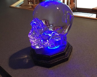 Crystal Head Vodka Skull Vodka Base Stand Glorifier Remote Control LED 16 Different Colors Built To Accommodate The 1.75 Liter Skull For Man